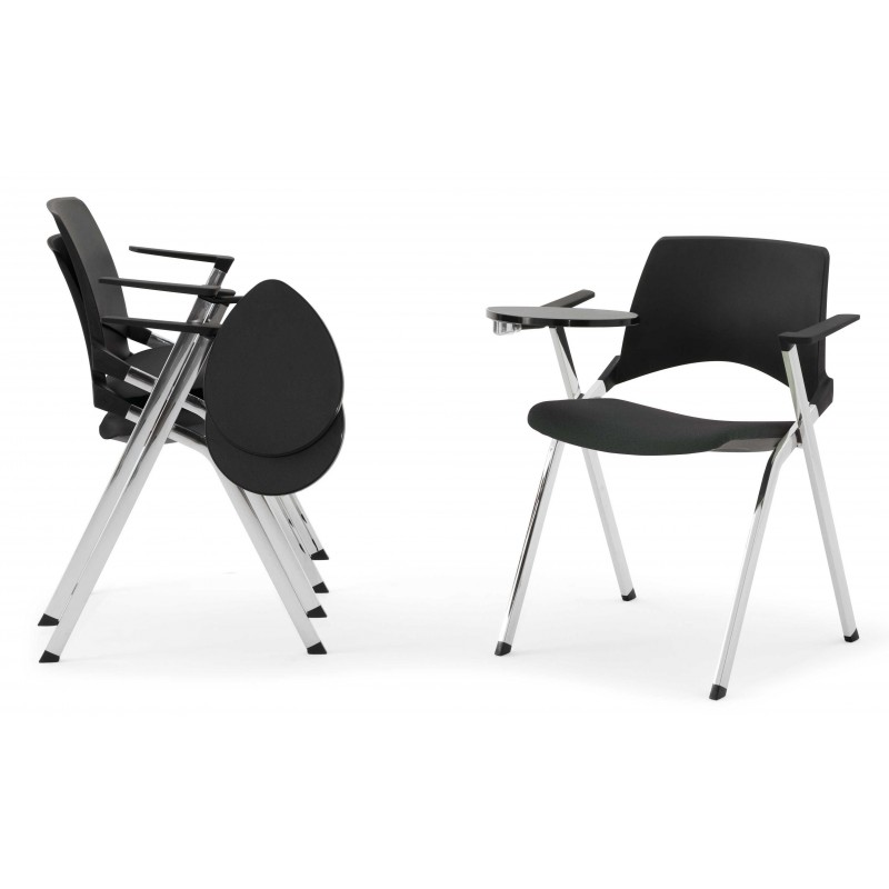 Chaise Siege Opla Assise Rabattable Accoudoirs Roulettes Tablette